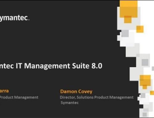 Symantec IT Management Suite 8.0 Launch